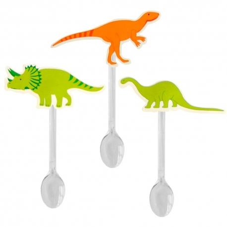 Colher Dinossauros (12uni) - Papel Confeito